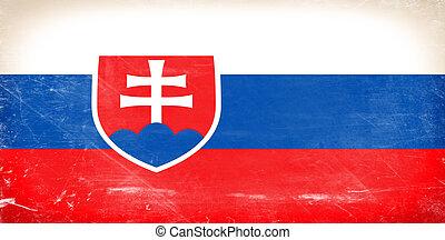 Slovakia flag Shabby vintage flag in grunge style