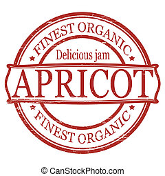 Apricot - Stamp with word apricot inside, vector...