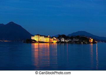 Lago Maggiore  - view of night Lago Maggiore, Italy