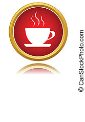 Coffee cup icon - New coffee cup icon on a white background....