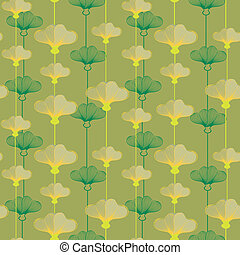 Pattern With Yellowcup Flowers - Seamless floral pattern...