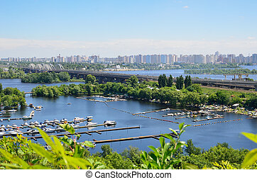 Cityscape of the Ukrainian capital Kyiv - There are a lot of...