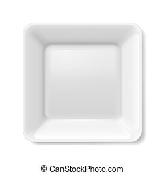 White plate - Empty white flat plate on isolated on white...