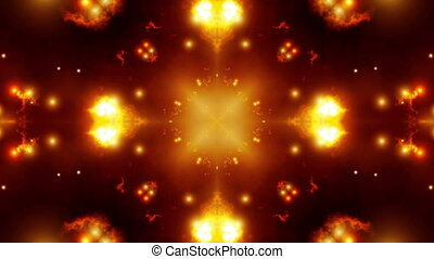 Fiery Kaleidoscopic Looping Animated Background