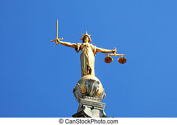 Old Bailey - Scales of Justice of the Central Criminal Court...