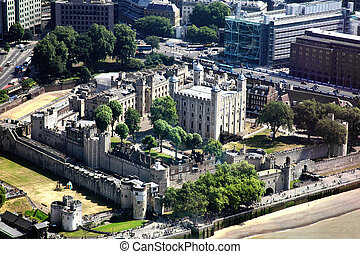 Tower of London - Aerial view of The Tower of London,...