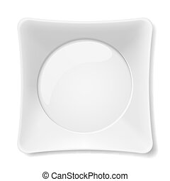 White plate - Empty white flat plate isolated on white...
