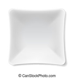 White plate - Illustration of empty white plate isolated on...
