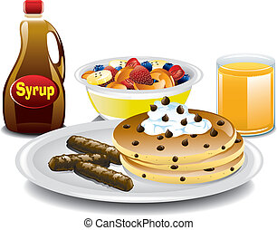 Complete Breakfast - Illustration of a complete breakfast...