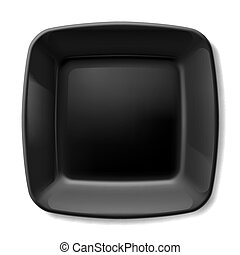 Black plate - Black square plate with rounded corners...