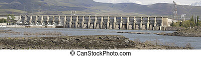 The Dalles Dam Along Columbia River