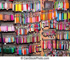 Colorfull tassels