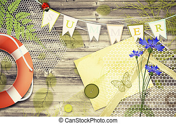 Scrapbooking Summer  Background