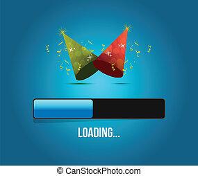 party time loading concept illustration design