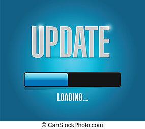 updates loading concept illustration design over a blue...