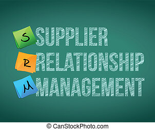 supplier relationship management on a board illustration...