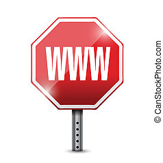 internet www sign illustration design over a white...