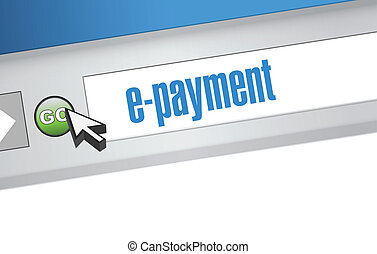 e payment browser illustration design graphic