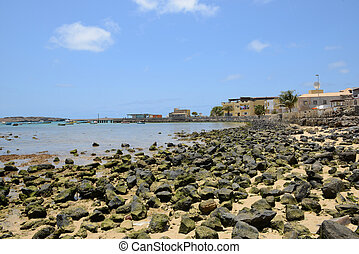 Sal Rei Harbour, Boa Vista, Cape Verde - View of the Sal Rei...