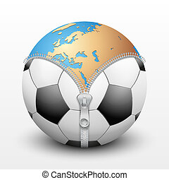Planet Earth inside soccer ball