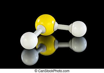 modelo, Hidrógeno,  sulfide, Átomo