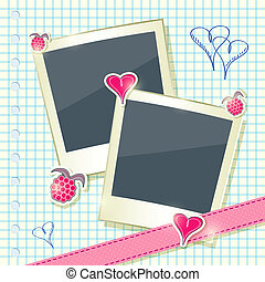 Card with Two Cute Photo Frames