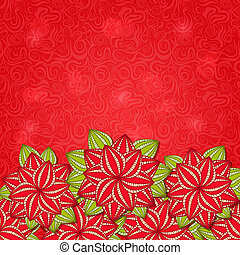 Red Flower Nature Background Card