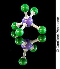 Chemistry molecule model of Phosphors - Phosphors molecule...