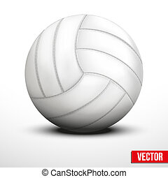 Volleyball in traditional one color on white background -...