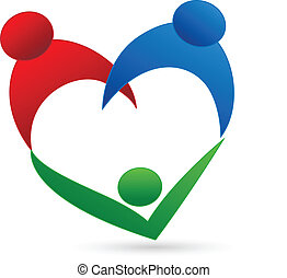 Family connection logo - Family connection vector icon