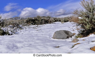 Snow Melting Cropped - Snow melting in high definition on a...