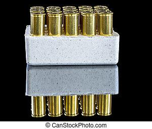 flera, mässing, Gevär, ammunition, behållare
