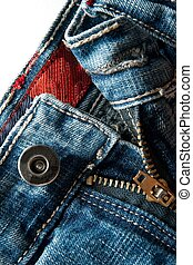 Jeans - Detail of a blue jeans