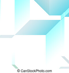 3d Geometric pattern - Smooth angular 3d geometric abstract...