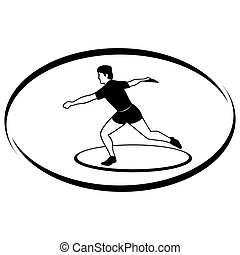Athletics Discus throwing - Summer kinds of sports...