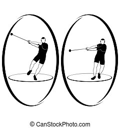 Athletics Hammer throwing - Summer kinds of sports...