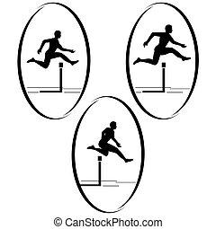 Athletics Running hurdles - Summer kinds of sports...