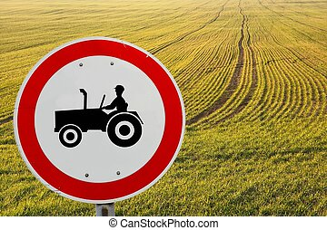 Rural - Agricultural field and traffic sign