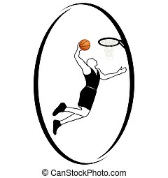 Basketball - Summer kinds of sports Illustration on a sports...
