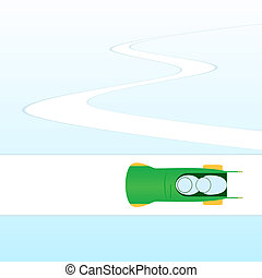 Bobsleigh-1 - Winter sports competitions Illustration on the...