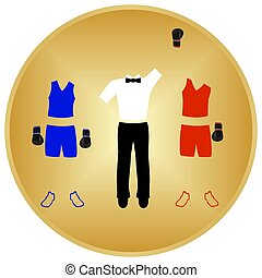 Boxing Victory - Summer kinds of sports Illustration on a...