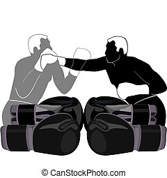Boxing-1 - Summer kinds of sports. Illustration on a sports...