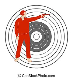 Bullet shooting-4 - Summer kinds of sports. Illustration on...