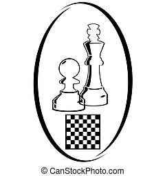 Chess-1 - Summer kinds of sports. Illustration on a sports...