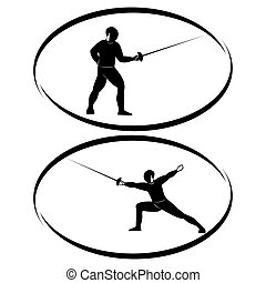 Fencing - Summer kinds of sports Illustration on a sports...