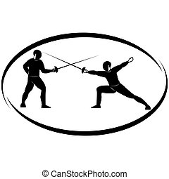 Fencing-1 - Summer kinds of sports Illustration on a sports...