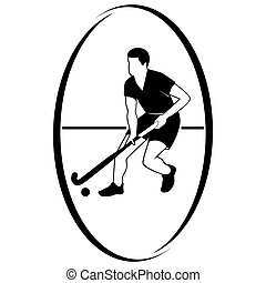 Field hockey-1 - Summer kinds of sports Illustration on a...