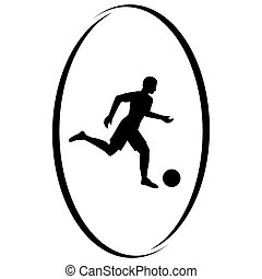 Football - Summer kinds of sports Illustration on a sports...