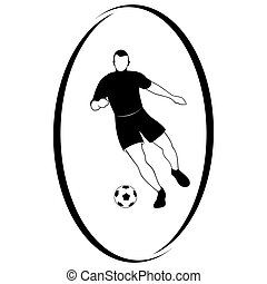 Football-1 - Summer kinds of sports. Illustration on a...