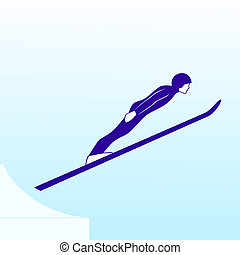 Jump from a springboard - Winter sports competitions....